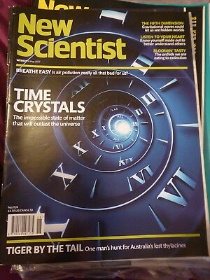 """NEW SCIENTIST MAGAZINE 6 May 2017 No3124 New/unread """"Time Crystals"""""""