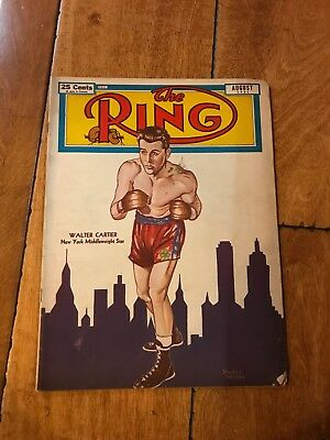 August 1951 The Ring Boxing Magazine Walter Cartier New York Middileweight Star