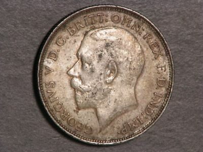 GREAT BRITAIN 1913 1 Florin George V Silver XF