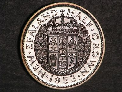 NEW ZEALAND 1953 1/2 Crown Choice Proof
