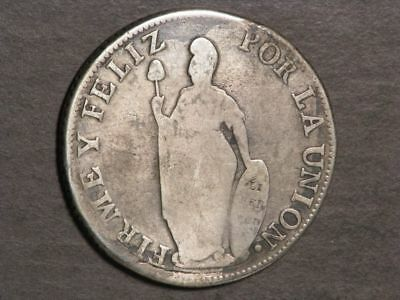PERU 1832MM LIMA 8 Reales Silver Crown