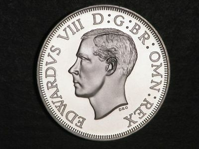 SOUTH AFRICA 1937 5 Shillings Edward VIII Silver Crown Proof - Mtg=550
