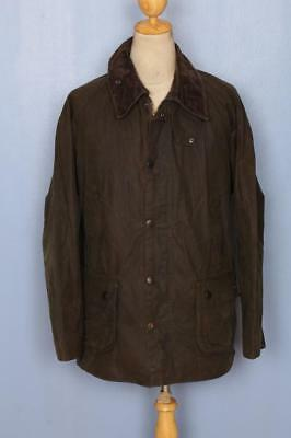 BARBOUR Classic Bedale Waxed Jacket Olive Size 44 Large