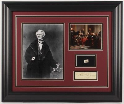 Samuel Morse Custom Framed Display with a Hand-Written Word from Letter