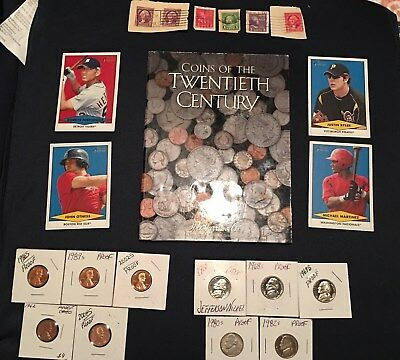 Mixed Lot Junk Drawer Collectibles,Stamps, Cards, Silver Coins