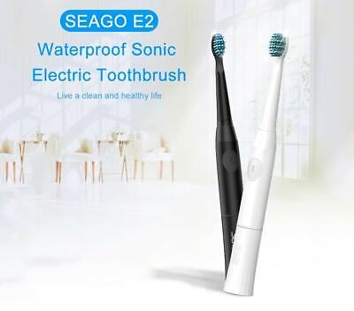 SEAGO E2 Waterproof Sonic Electric Toothbrush - BLACK