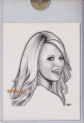 2010 Benchwarmer Ultimate Sean Pence Jumbo Sketch: Molly Shea 1/1 Of Hand Drawn