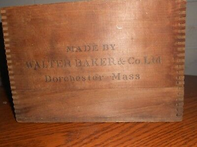 Antique W.Baker & Co. Wooden Choc. Box Gold Metal Awarded Paris Exposition 1900