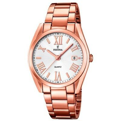 Festina watch F16793/1 pink gold colored woman with calendar 37 mm