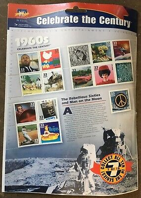 Celebrate the Century - 1960s sheet of 15 33 cent stamps