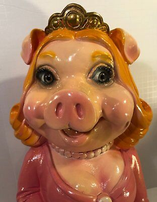 Miss Piggy vintage large bank A to Z Productions 1980s muppets collectibles RARE