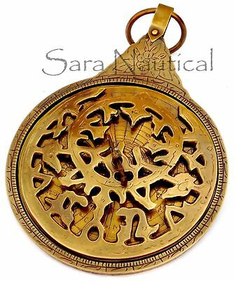 Islamic Navigation 18'' Vintage Antique Brass Persian Ottoman Astrolabe Arabic