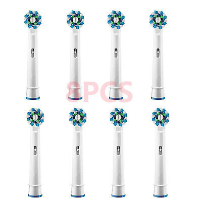 8PCS Electric Tooth Brush Replacement Heads Fit Braun Oral-B Cross Action EB-50A