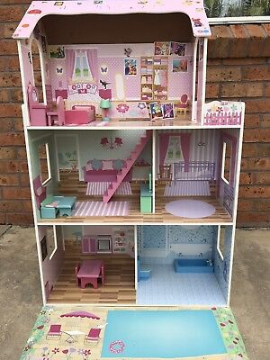 Fairy Doll House * Open Front * 3 Levels * Pretend Play