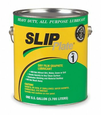 Slip Plate Dry Film Lubricant, -75°F to 450 Degrees F, Graphite, 1 gal. Can