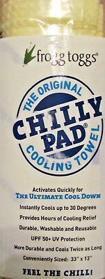 FROGG TOGGS Chilly Pad Cooling Towel~Yellow~NEW in package~33 X 13