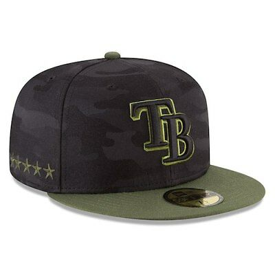 576437be993 ... uk tampa bay rays new era 2018 memorial day on field 59fifty fitted hat  black 2b590