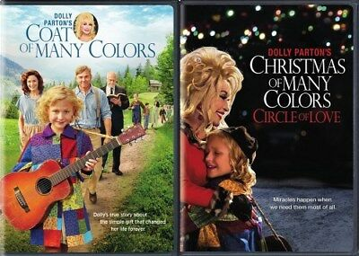 DOLLY PARTON'S COAT OF MANY COLORS + CHRISTMAS OF MANY COLORS New 2 DVD