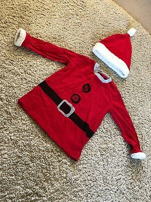 Next Age 1 1/2-2 Years Christmas Top And Hat