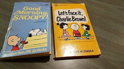 LOT OF 2 PEANUTS PAPERBACKS Charles M. Schulz PBs Vintage Charlie Brown Fawcett