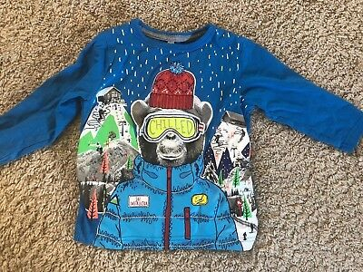 M&S Boy's 12-18 Months Christmas Skiing Monkey Top