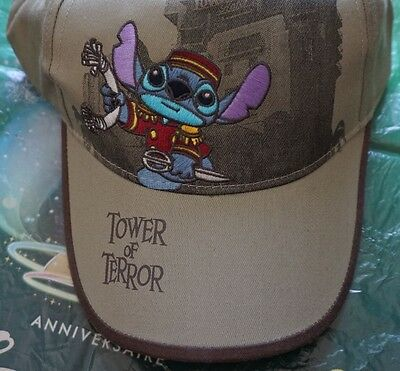 Tower Of Terror Stitch Cap Disney Disneyland Paris Mütze Grau Neu Ungetragen Rar