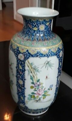 Large Chinese Antique Large vase Floral Pattern with Birds