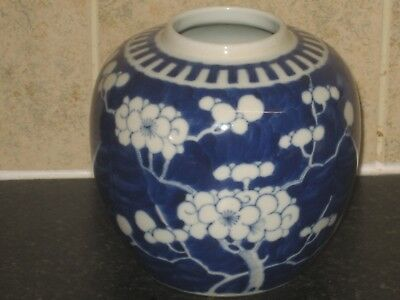 Fine  Antique Chinese Kangxi Prunus Ginger Jar
