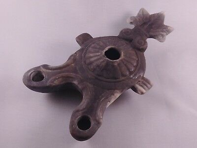 MUSEUM QUALITY Ancient Roman Terracotta Oil Lamp With Two Nozzles - C.100-300 AD