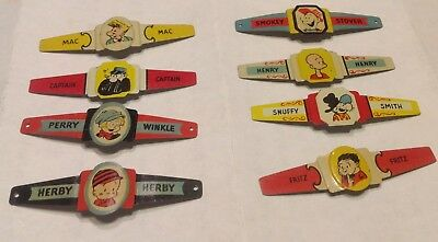 Child's Post Cereal Rings, Smokey,Captain,Mac,Snuffy,Herby,Perry,Fritz,Henry