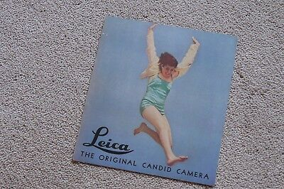 Leica Leitz Rare Original Candid Camera 1938 Lovely Condition 4 Pages