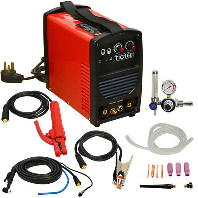 160 Amp TIG Torch Stick Arc MMA DC Inverter Welder Dual Voltage AC Welding