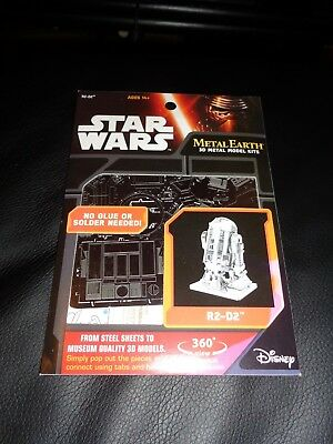 Star Wars 3D Metal Earth Metall-Bausatz R2-D2  3D Puzzle