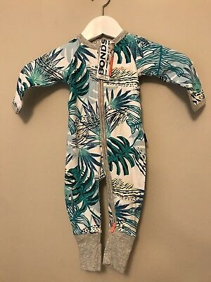 NEW Bonds Of Australia Baby Gro 3-6 Sleepsuit Two Way Zip Folding Feet Hands