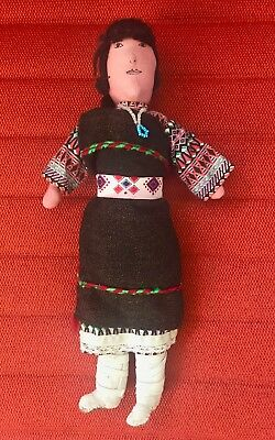 Vintage Navajo Doll Native American Indian Beautiful BOOTS RARE! 35+yrs  11.25""