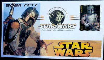 "Star Wars 40th Anniversary FDC ""BOBA FETT""  DJSPhotoCollages VADER Cancel"