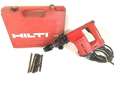 Hilti TE22 Rotary Hammer Drill with  Case and bits Tested  Working 5.5 Amps 110V