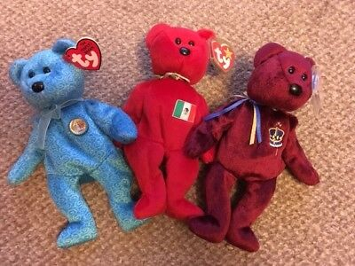 afcde963540 EXCELLENT CONDITION ORIGINAL Ty Beanie Baby Glory The Bear Rare With ...