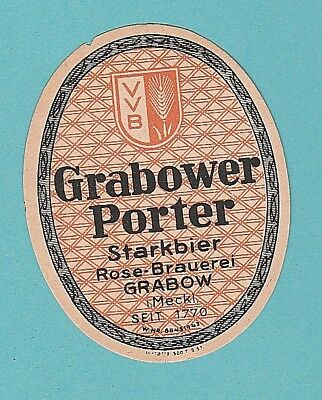 altes BE VVB Rose-Brauerei Grabow