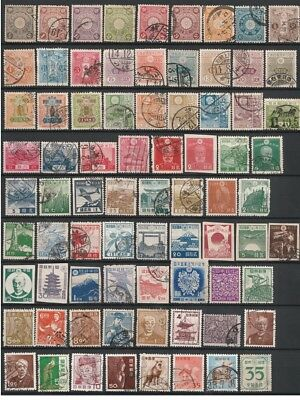 JAPAN - NIPPON OLD USED STAMPS (76 stamps)