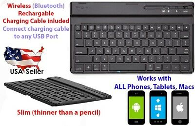 Wireless Bluetooth Keyboard Slim For Macs, Android, Apple, Iphone X, tablets