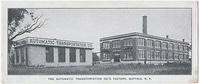 RARE Advertising Card Automatic Transportation Co Buffalo NY 1920 - Electric Car