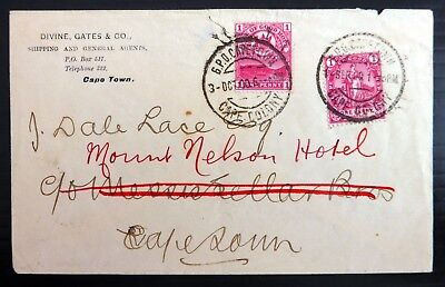 SOUTH AFRICA CAPE of GOOD HOPE 1900 Local Cover with 2 x 1d SEE BELOW BG604