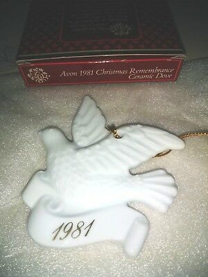 New Vintage Avon 1981 Christmas Remembrance Dove Ornament Free Shipping