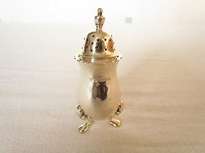 Antique Hallmarked 1934 Solid Sterling Silver Pepperette Pepper or Pounce Pot