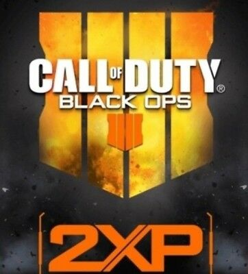 15 MINUTES BONUS DOUBLE XP CALL OF DUTY BLACK OPS 4 Multiplayer PS4 XBOX ONE PC