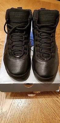 2005 Mens Nike Air Jordan X 10 Blackout Black White Size 10 Used Rare NDS OG