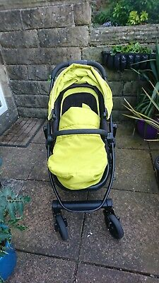 Graco EVO Lime Travel System - stroller, car seat, base and carry cot