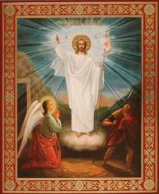 Wooden Icon of the Resurrection of Jesus - Russian Icon - Christ is Risen!