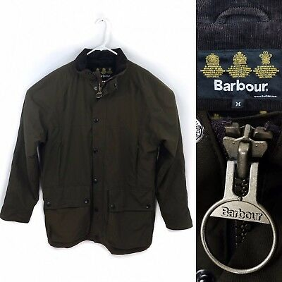 Barbour Men's Two Pocket Lowland Jacket Brown Nylon Size Medium Fall Hunting
